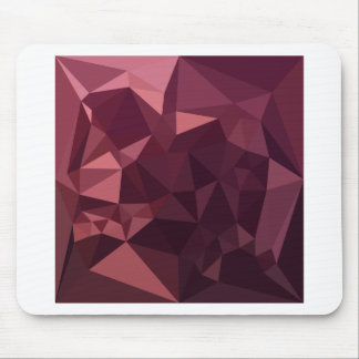 Dark Raspberry Red Abstract Low Polygon Background Mouse Pad