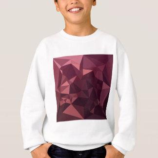 Dark Raspberry Red Abstract Low Polygon Background Sweatshirt