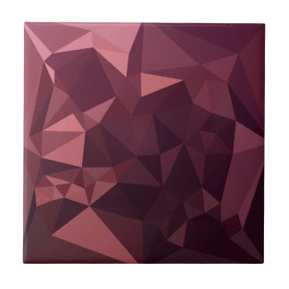 Dark Raspberry Red Abstract Low Polygon Background Tile