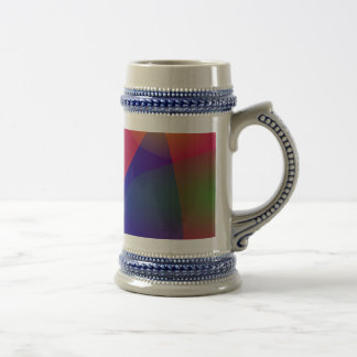 Dark Red Abstract Art Coffee Mug