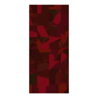 Dark Red Abstract Pattern Personalized Rack Card