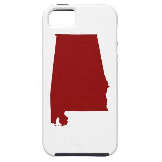 Dark Red Alabama Shape iPhone 5 Case