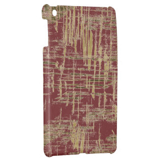Dark Red and Gold Modern Art Case For The iPad Mini