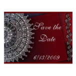 Dark red and silver design