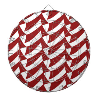 Dark Red and White Checks Dartboards
