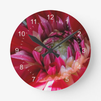 dark red blossom wallclock