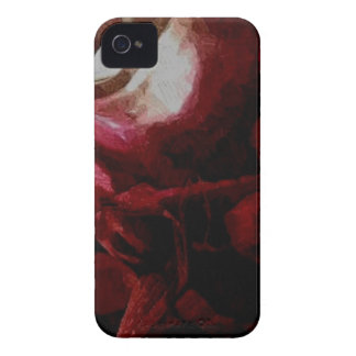 Dark Red Candlelight Oil Painting Case-Mate iPhone 4 Cases