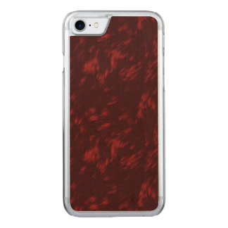 Dark Red Carved iPhone 8/7 Case