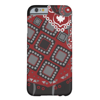 Dark Red Eastern Ornament Barely There iPhone 6 Case