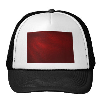 Dark Red (Faux) Leather Look Mesh Hat