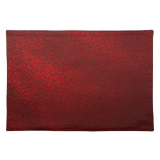 Dark Red (Faux) Leather Look Placemat