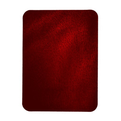 Dark Red (Faux) Leather Look Rectangular Magnets