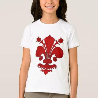 Dark red fleur de lis symbol T-Shirt