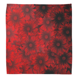 Dark red floral pattern bandana