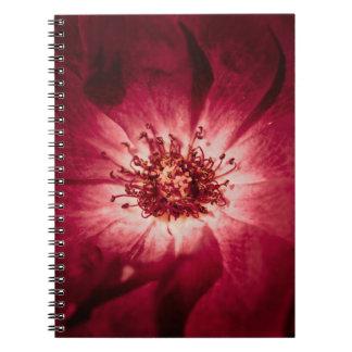 Dark Red Flower Blossom Notebook