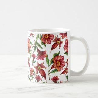 Dark Red Flowers Coffee Mug