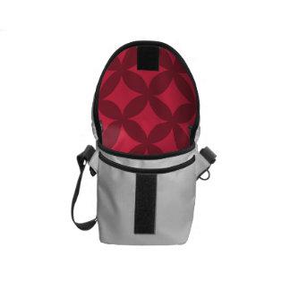Dark Red Geocircle Design Courier Bags