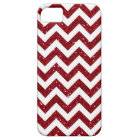 Dark Red Glitter Chevron Pattern iPhone 5 Cover