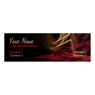Dark Red & Gold Mini Business Card