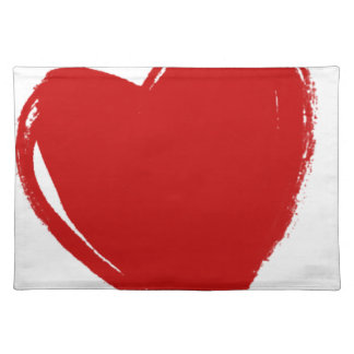 Dark Red HEART Placemat