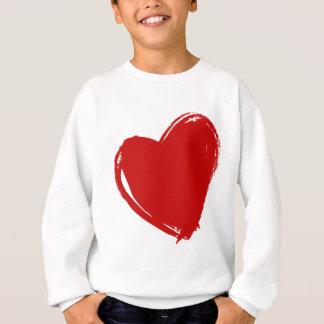 Dark Red HEART Sweatshirt