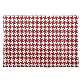 Dark Red Houndstooth Placemat
