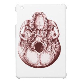Dark Red Human Skull below iPad Mini Cases