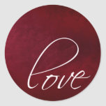 Dark red love stickers