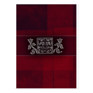 Dark red / marron - Indian accents Postcard