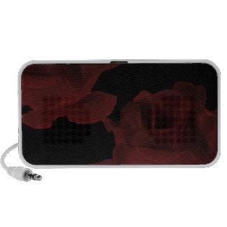 Dark Red Rose Doodle Speaker