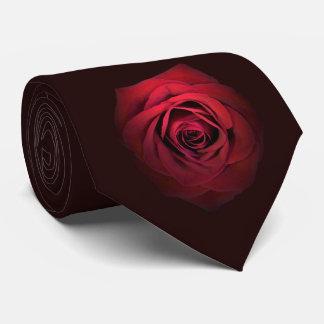 Dark Red Rose Tie