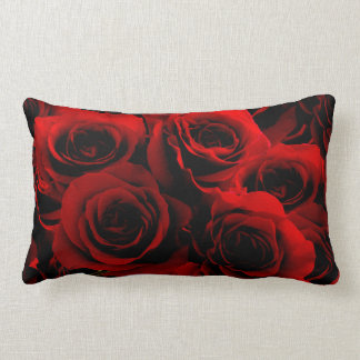 Dark Red Roses For you Throw Cushion