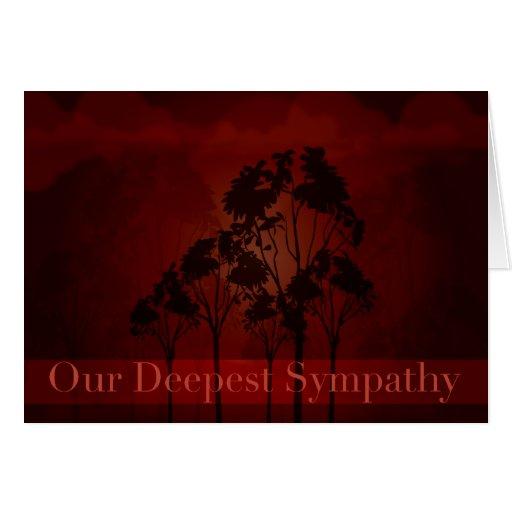 Dark Red Sympathy Card