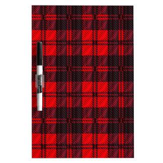 Dark Red Tartan Dry Erase Board