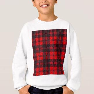 Dark Red Tartan Sweatshirt