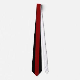 Dark Red Vertical Stripe on Black Tie