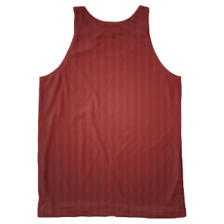 Dark Red Vertical Striped Tank Top for Women All-Over Print Tank Top