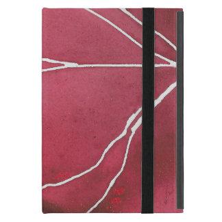 Dark Red Watercolour Marble Break Case For iPad Mini