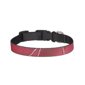 Dark Red Watercolour Marble Break Pet Collar