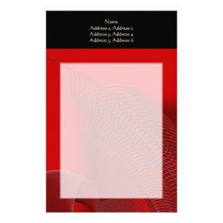 Dark Red Wave Graphic. Stationery Design