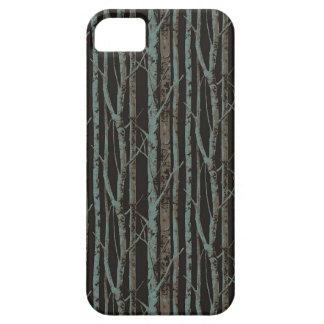 Dark Retro Birch iPhone 5 Cover