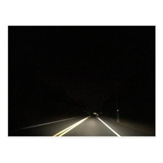 Dark roads and Night time adventures Postcard