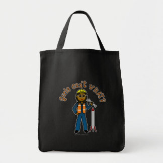 Dark Rocket Scientist Girl Canvas Bag