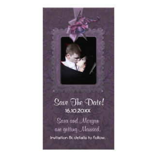 Dark Romance Wedding Save the Date Customized Photo Card