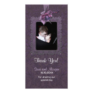 Dark Romance Wedding Thank You Personalized Photo Card