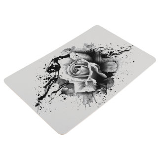 dark rose splatter bathroom mat