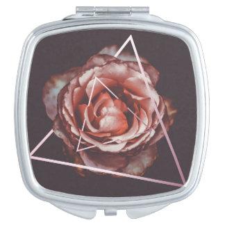 Dark rose vanity mirror