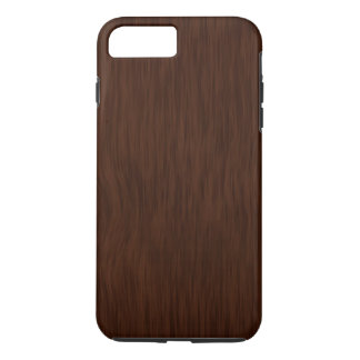 Dark Rough Wood Grain Background iPhone 7 Plus Case