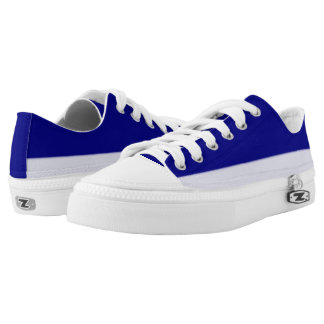 Dark Royal and Pale Blue Two-Tone Lo-Top Printed Shoes