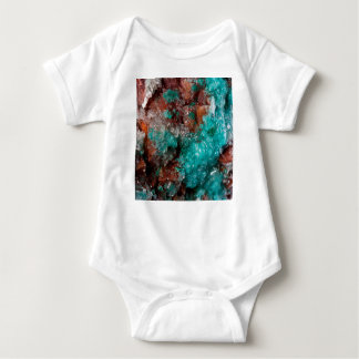 Dark Rust & Teal Quartz Baby Bodysuit